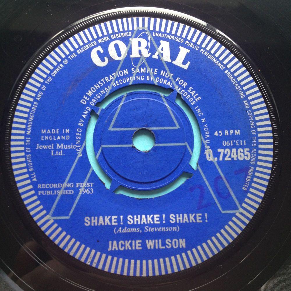 Jackie Wilson - Shake ! Shake ! Shake ! - UK Coral demo - Ex