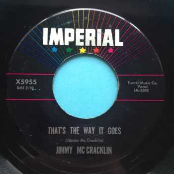 Jimmy McCracklin - That's the way it goes b/w I'll see it through - Imperial - Ex