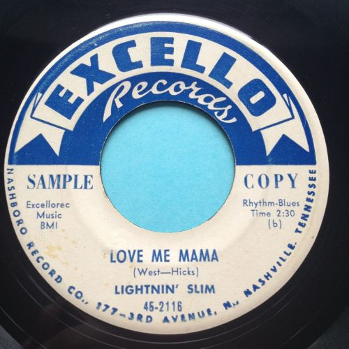 Lightnin' Slim - Love me mama b/w I'm a rollin' stone - Excello promo - VG+