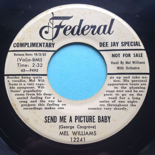 Mel Williams - Send me a picture baby - Federal bio promo - Ex-