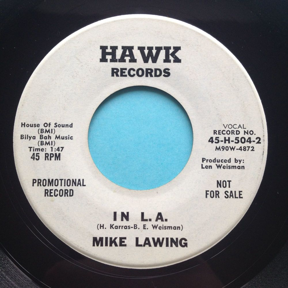 Mike Lawing - In L.A. - Hawk promo - Ex-