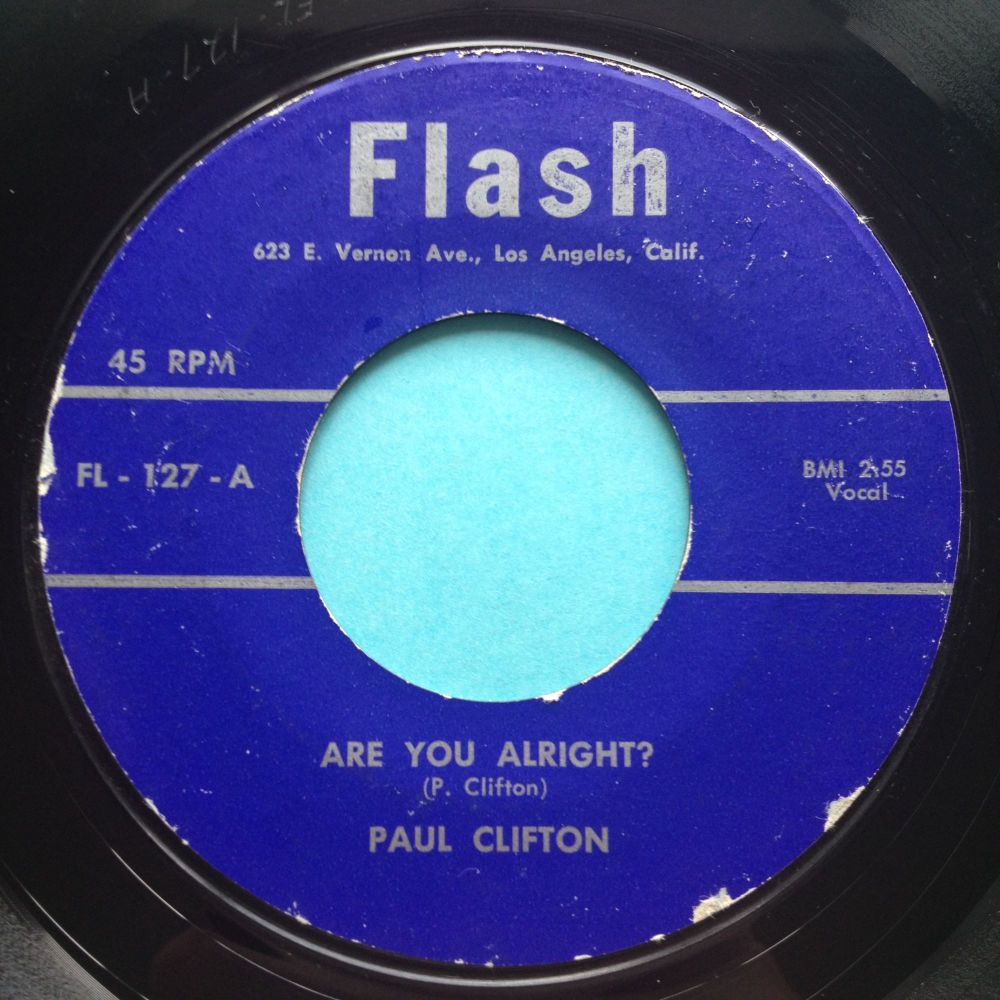 Paul Clifton - Are you alright - Flash - VG+