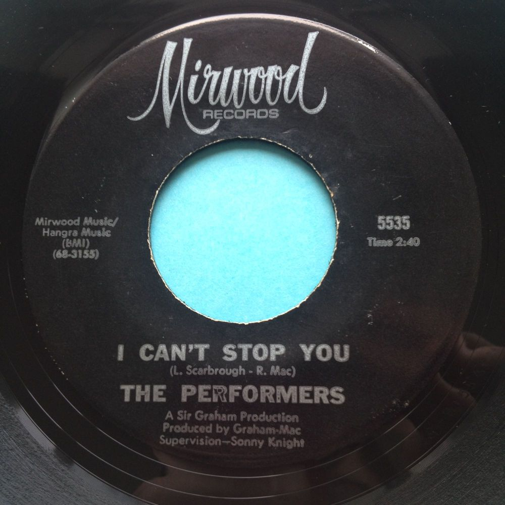 Performers - I can't top you - Mirwood - Ex