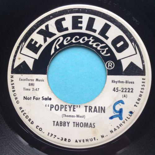 Tabby Thomas - Popeye Train - Excello promo - Ex-