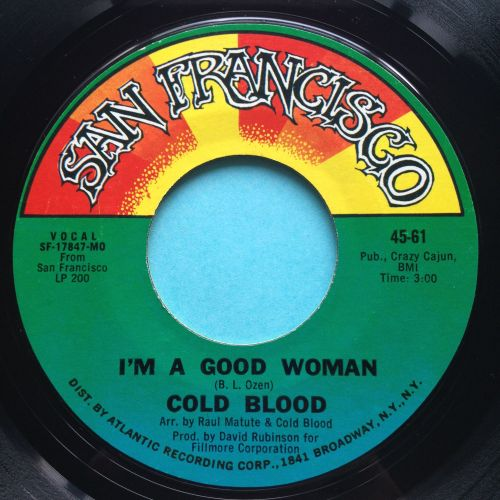 Cold Blood - I'm a good woman - San Francisco - Ex