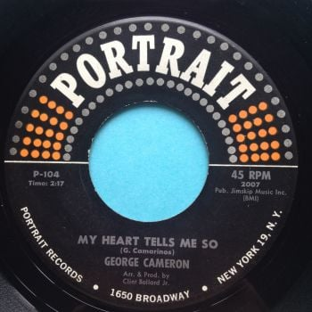 George Cameron - My heart tells me son - Portrait - Ex- (light scuffs nap)
