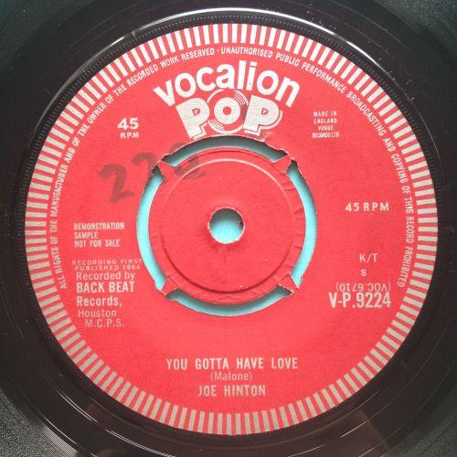 Joe Hinton - You gotta have love - UK Vocalion demo - Ex