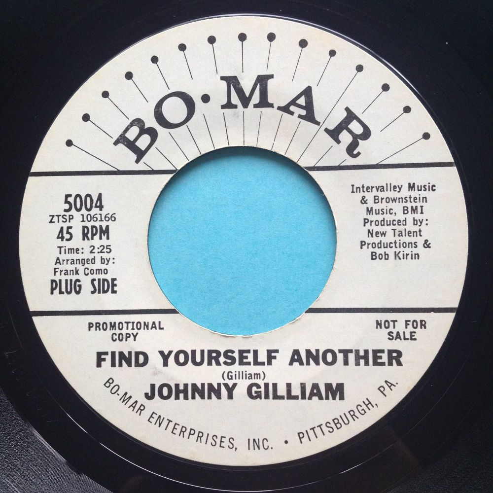 Johnny Gilliam - Find yourself another - Bo Mar promo - Ex