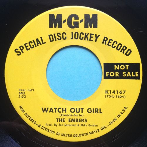 Embers - Watch out girl - MGM promo - Ex