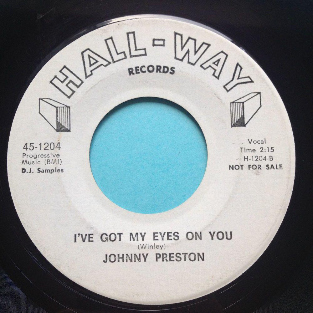 Johnny Preston - I've got my eyes on you - Hall-Way promo - Ex-
