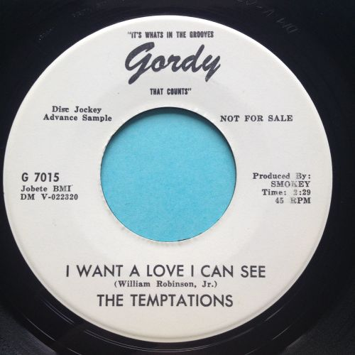 Temptations - I want a love I can see - Gordy promo - Ex
