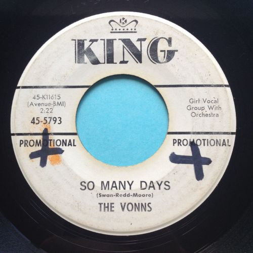 Vonns - So many days - King promo - VG+