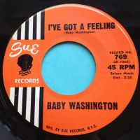 Baby Washington - I've got a feeling - Sue - Ex