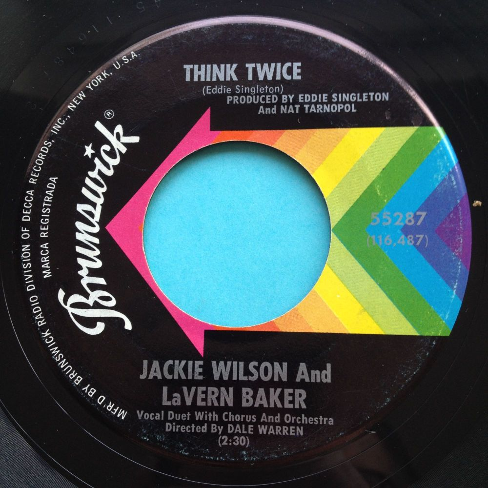 Jackie Wilson and Lavern Baker - Think Twice - Brunswick - Ex-