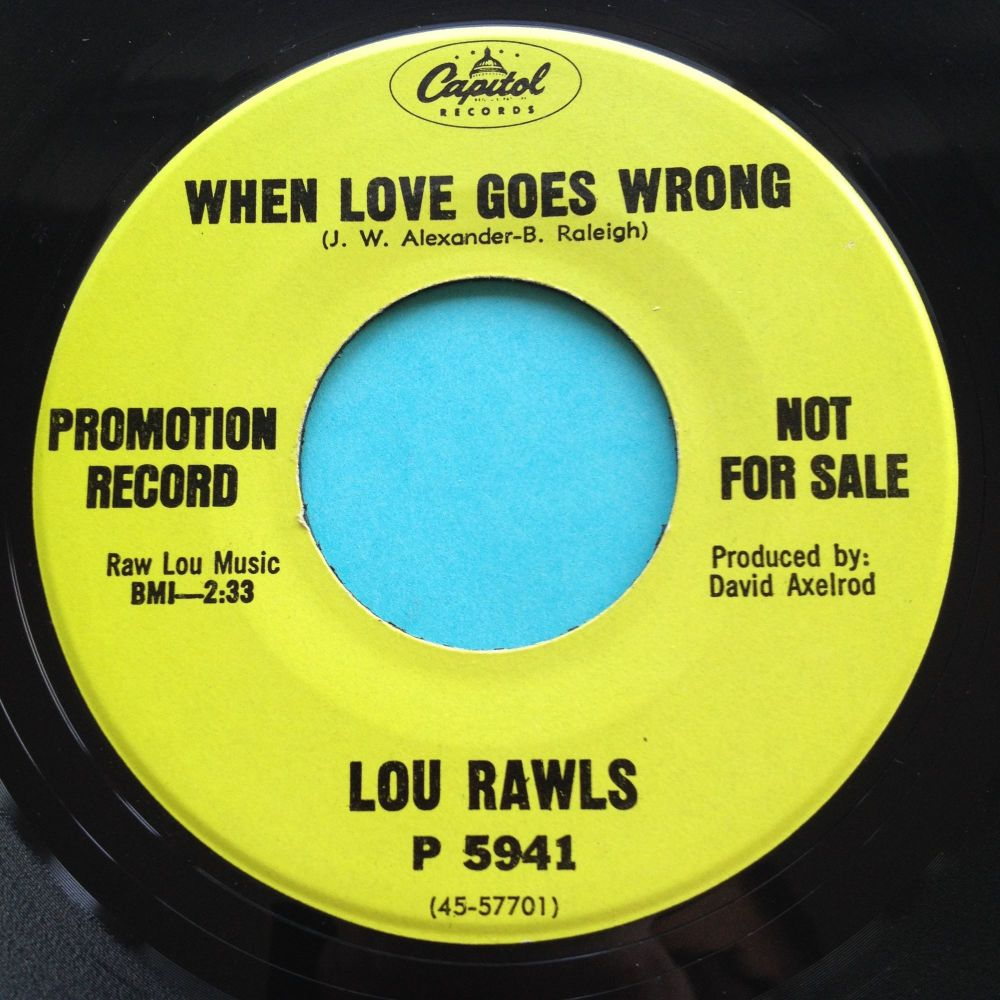 Lou Rawls - When love goes wrong - Capitol promo - Ex-