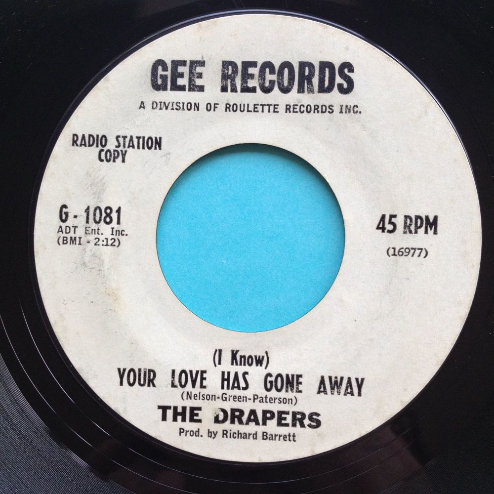 Drapers - (I know) Your love has gone away - Gee promo - VG+