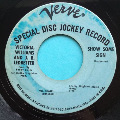 Victoria Williams and J.B. Ledbetter - Show some sign - Verve promo - VG+ (