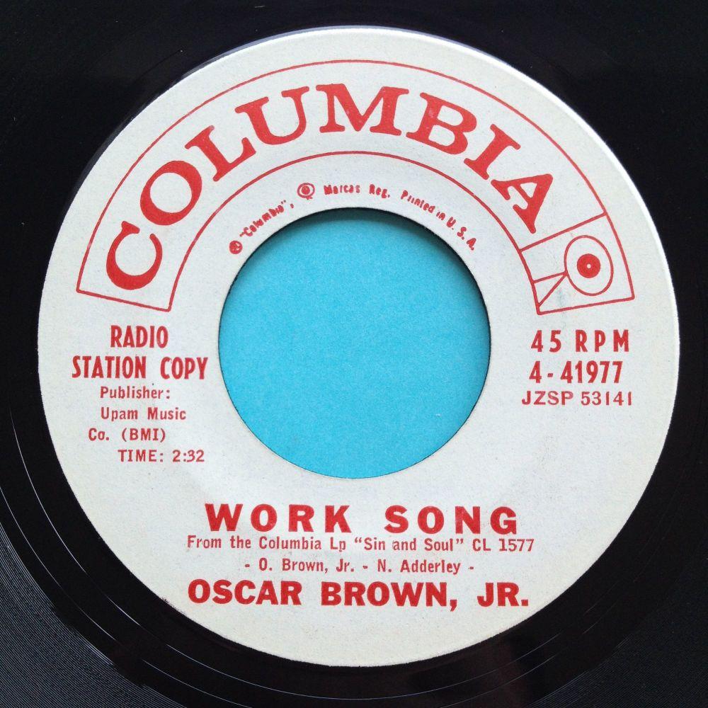 Oscar Brown Jr - Work Song - Columbia promo - Ex