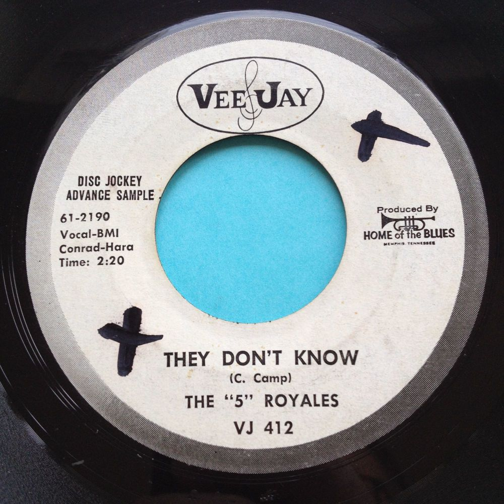 5 Royales - they don't know - VeeJay promo - Ex