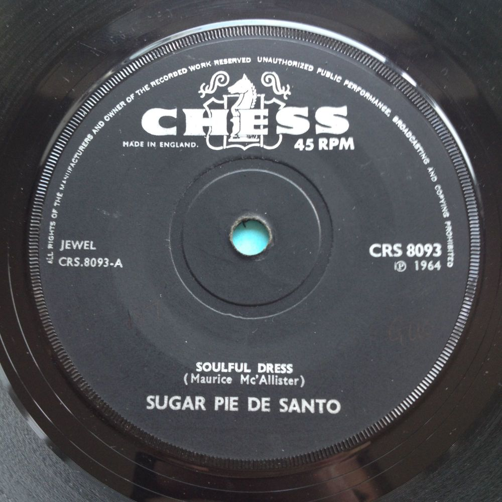 Sugar Pie De Santo - Soulful Dress b/w There's gonna be trouble - UK Chess
