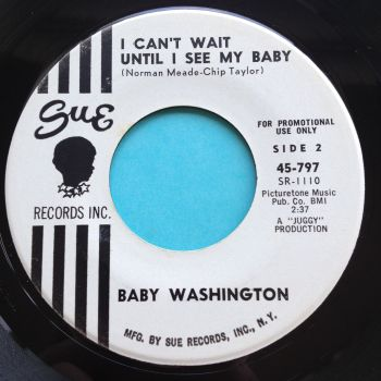 Baby Washington - I can't wait until I see my baby - Sue promo - VG+