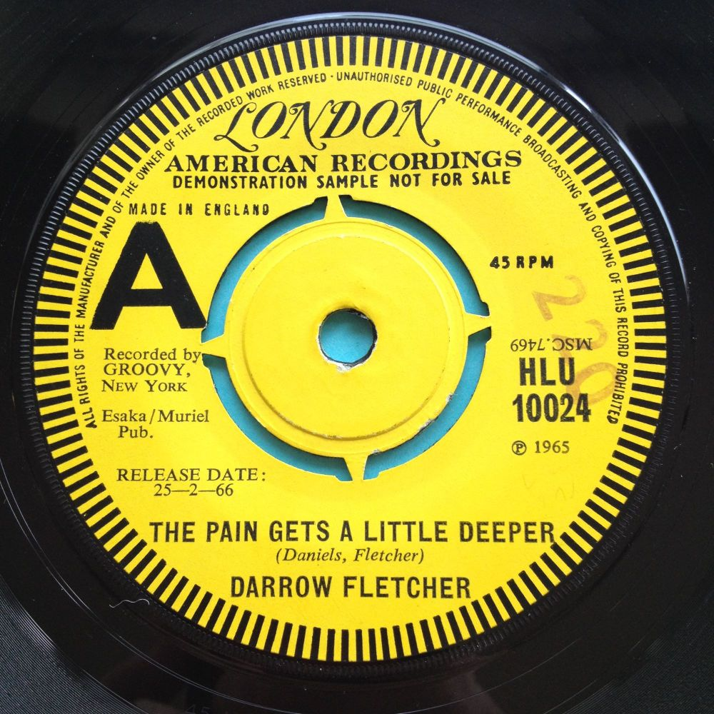 Darrow Fletcher - The pain gets a little deeper - U.K. London demo - Ex