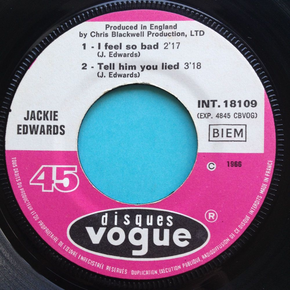 Jackie Edwards E.P. - I feel so bad (rare duet version) / Oh Mary + 2 & Pic