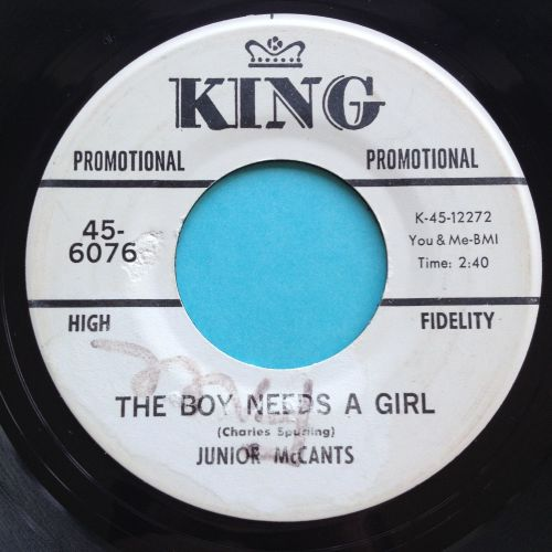 Junior McCants - The boy needs a girl - King promo (wol & label wear) - Ex-
