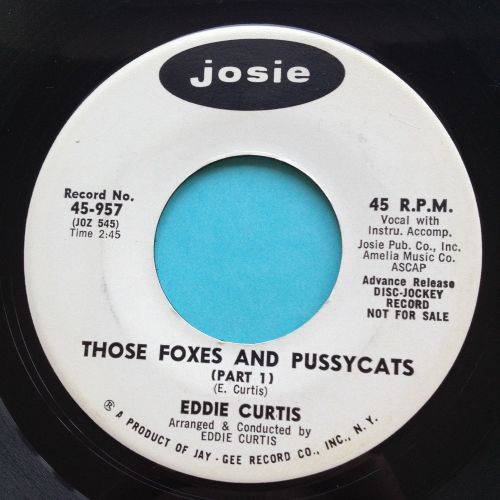 Eddie Curtis - Those Foxes and Pussycats - Josie promo - Ex
