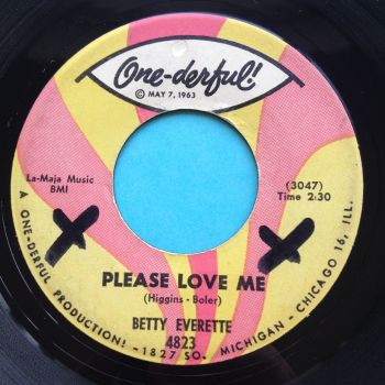 Betty Everette - Please love me - One-derful - Ex- (2 x Xs on label)