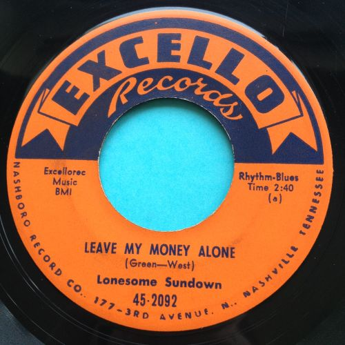 Lonesome Sundown - Leave my money alone - Excello - Ex-