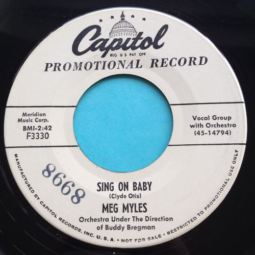 Meg Myles - Sing on baby - Capitol promo - Ex