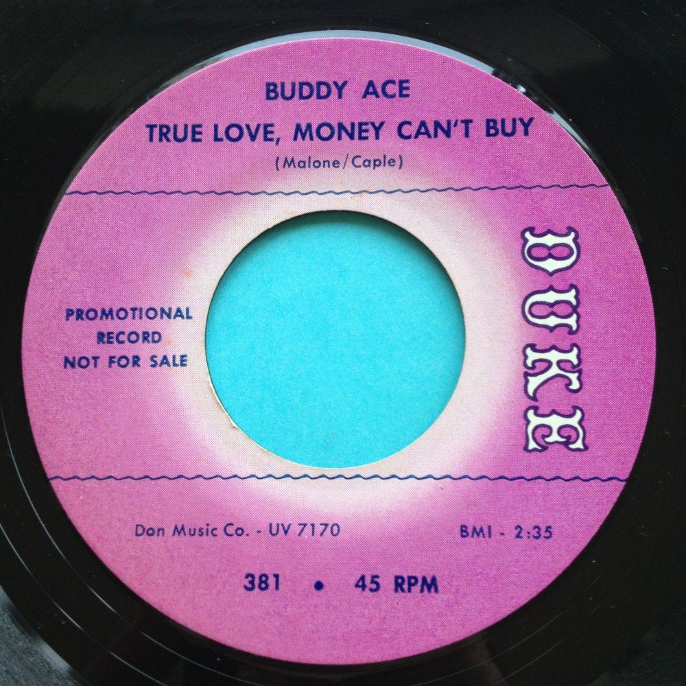 Buddy Ace - True love money can't buy - Duke promo - Ex- (slight edge warp