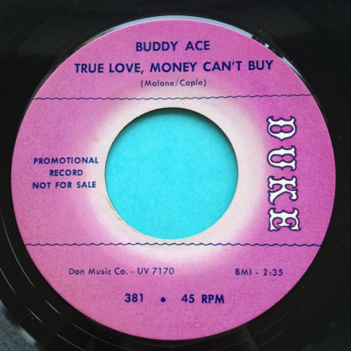Buddy Ace - True love money can't buy - Duke promo - Ex- (slight edge warp