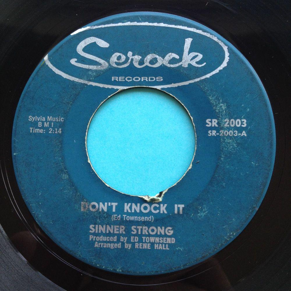 Sinner Strong - Don't knock it - Serock - VG+