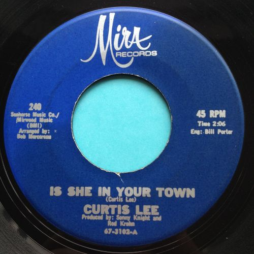 Curtis Lee - Is she in your town - Mira - Ex
