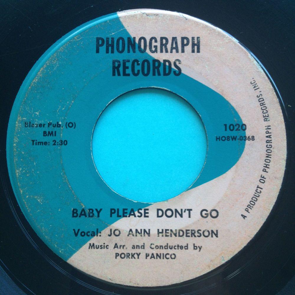 Jo Ann Henderson - Baby please don't go - Phonograph - VG (plays VG+)