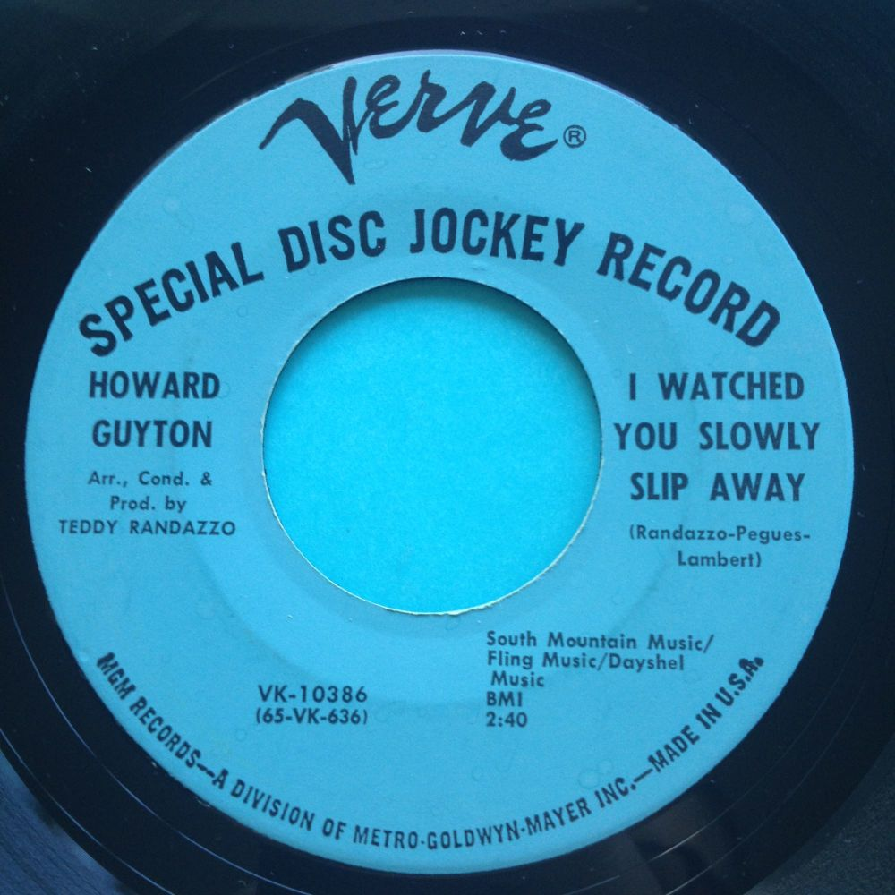 Howard Guyton - I watched you slowly slip away - Verve promo - Ex
