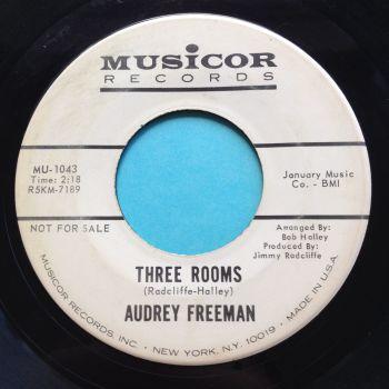 Audrey Freeman - Three rooms - Musicor promo - VG+