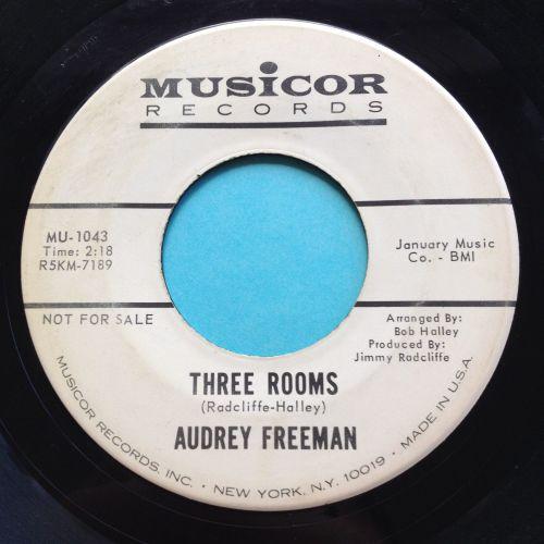 Audrey Freeman - Three rooms - Musicor promo - Ex-
