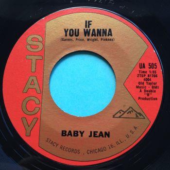 Baby Jean - If you wanna b/w Oh Johnny - Stacy - Ex