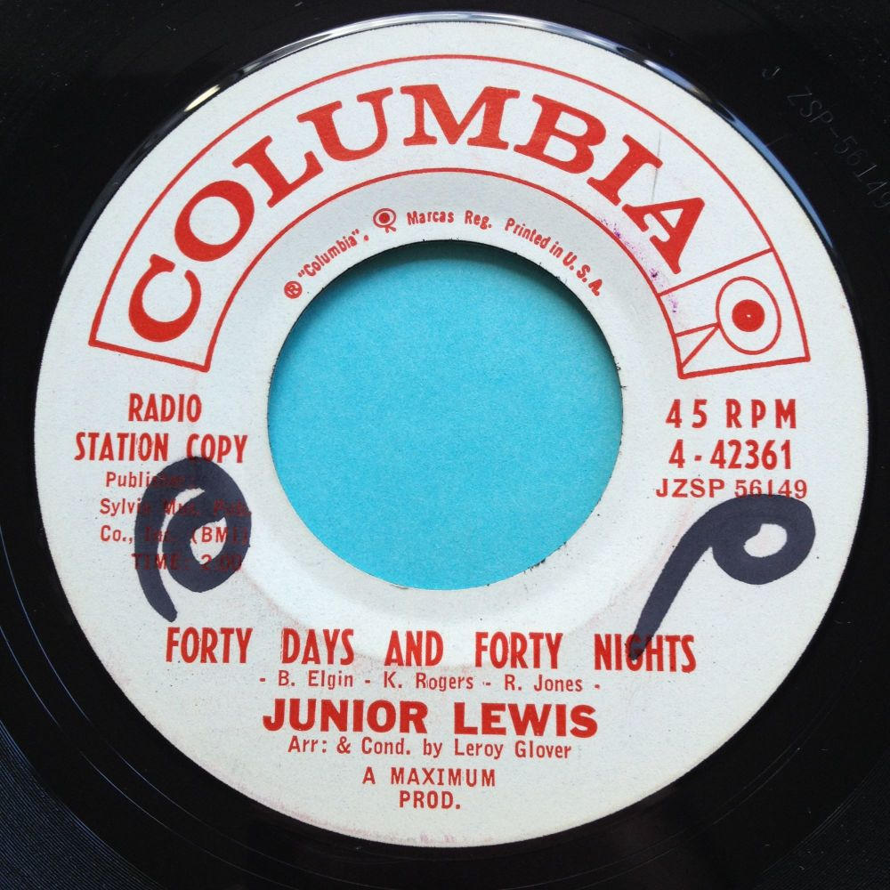 Junior Lewis - Forty Days and Forty Nights - Columbia promo - Ex (wol)