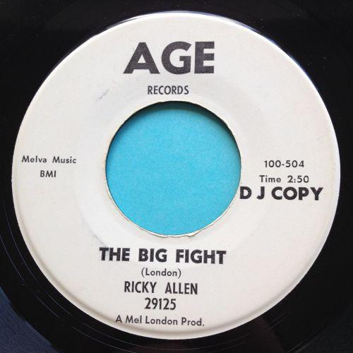Ricky Allen - The big fight - Age promo - Ex