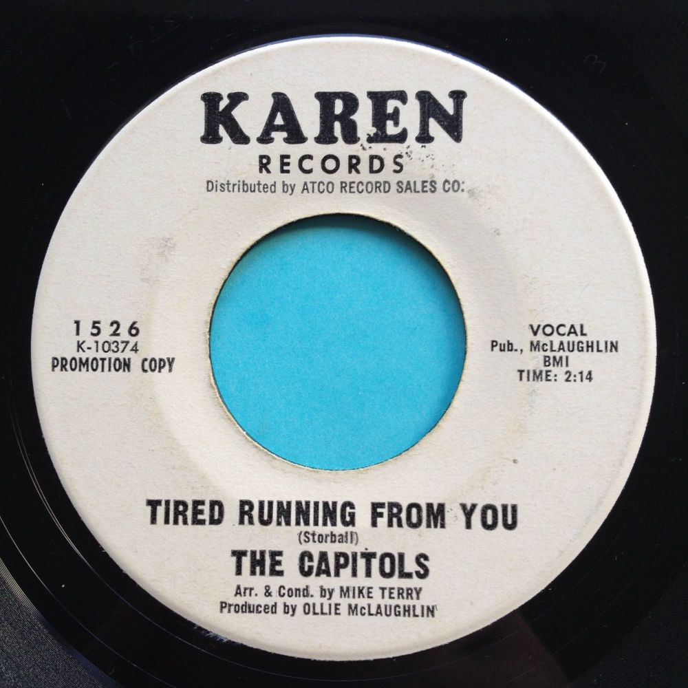 Capitols - Tired running from you b/w We got a thing that's in the groove -