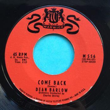 Dean Barlow - Come back - Warwick - Ex-