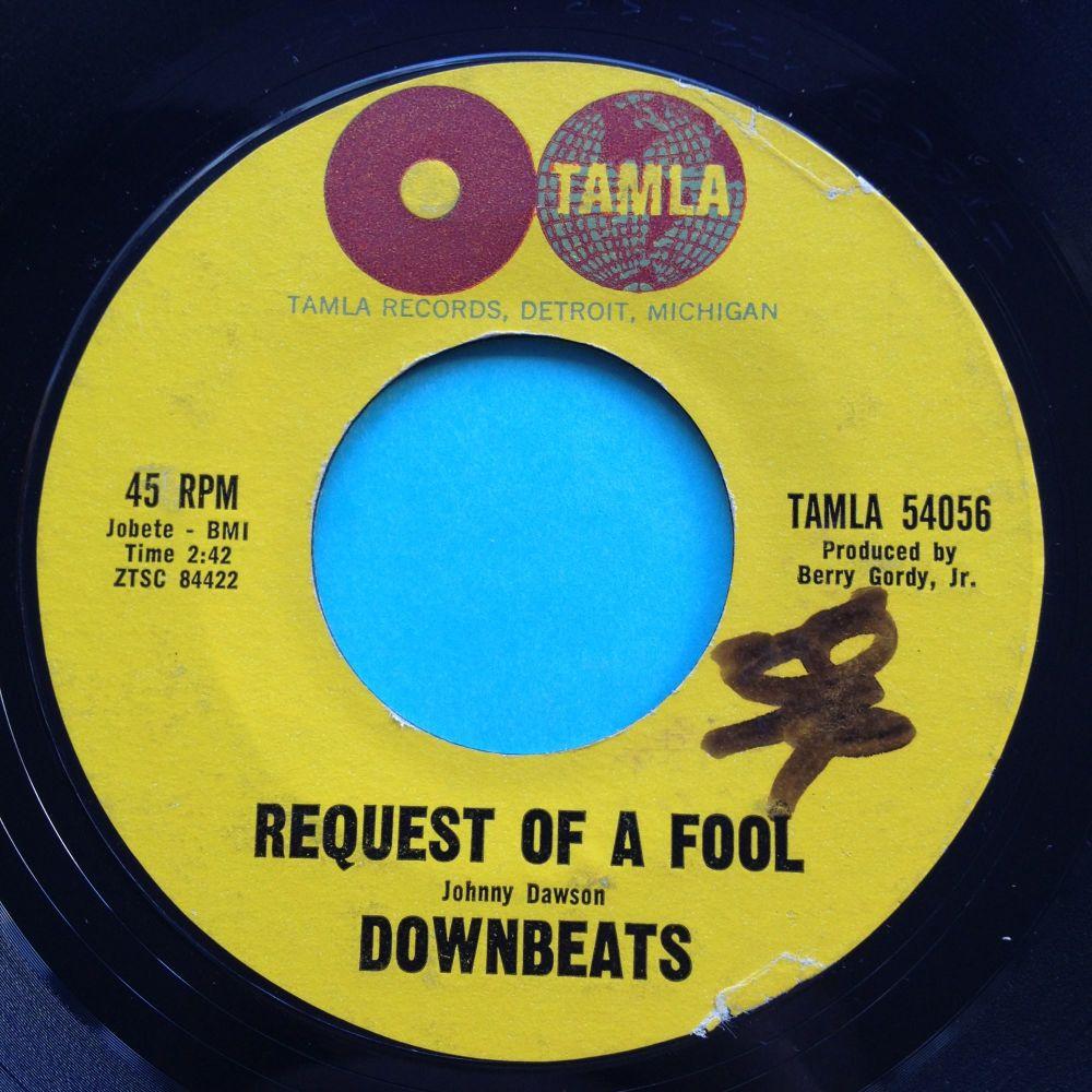 Downbeats - request of a fool - Tamla - VG+
