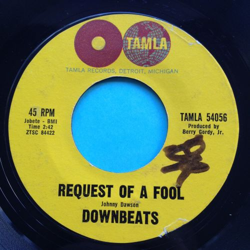 Downbeats - request of a fool - Tamla - VG+