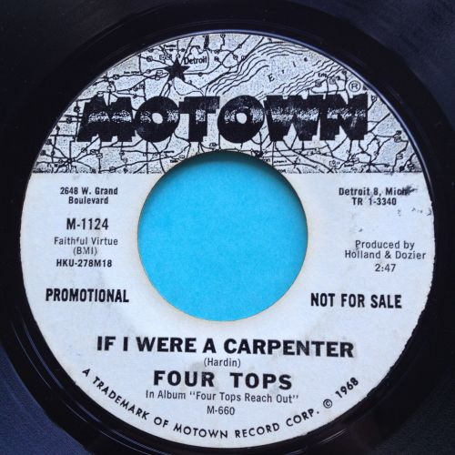 Four Tops - If I were a carpenter - Motown promo - VG+