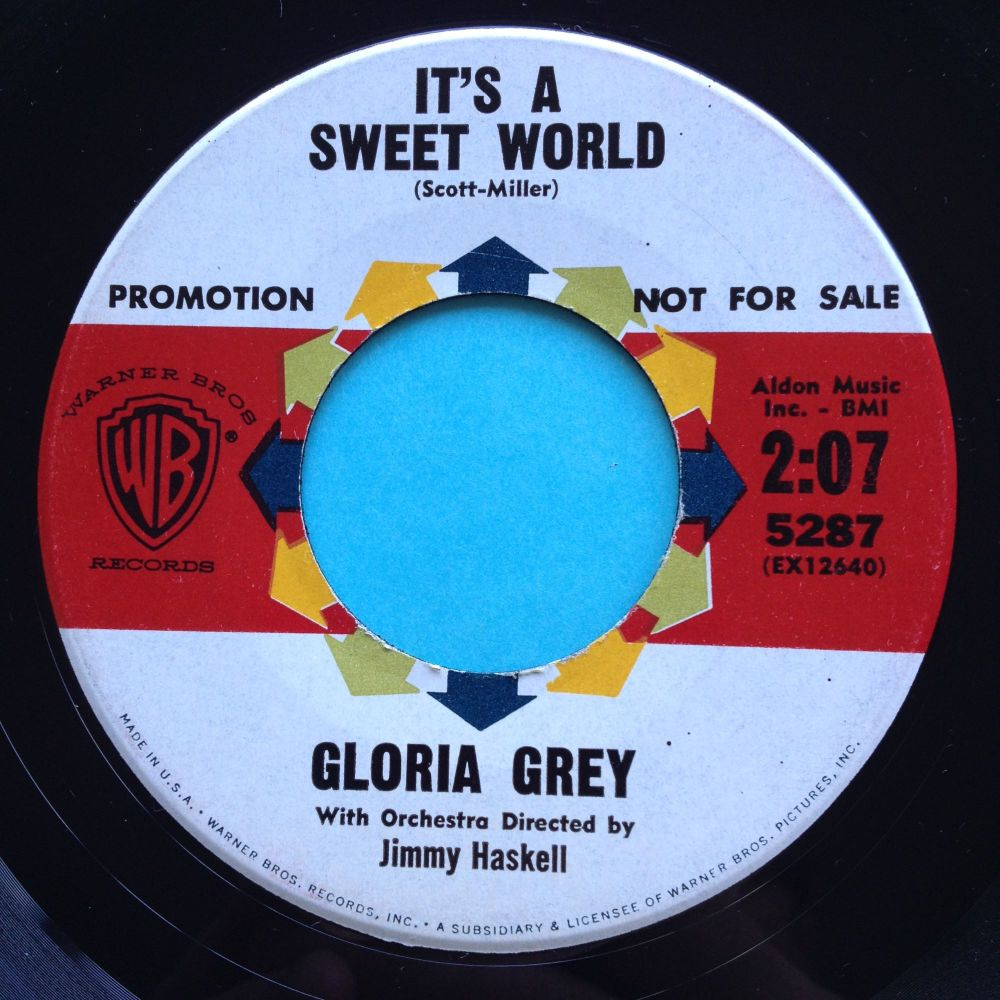 Gloria Grey - It's a sweet world - WB promo - Ex