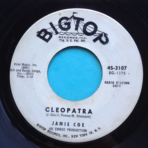 Jamie Coe - Cleopatra - Bigtop promo - Scuffy VG but plays strong VG+